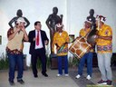 Banda de Pífanos na execução do Hino de Pernambuco