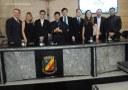 Câmara concede homenagens ao Padre Luiz Antônio e Wendele Nascimento