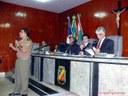 Comandante do 4º BPM na Câmara Municipal de Caruaru