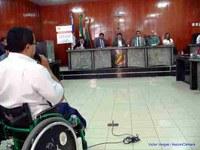 Emoção na audiência pública da acessibilidade