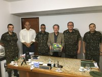 General do Exército faz visita ao Presidente da Câmara