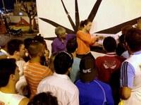 Gilberto de Dora comemora início de obra no Boa Vista II
