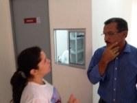 Heleno do Inocoop visita unidade de saúde do José Liberato