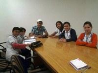 Jajá recebe estudantes na Câmara
