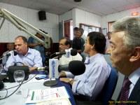 Leonardo Chaves, FBC e Zé Queiroz no Mesa Redonda