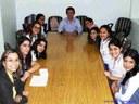 Leonardo Chaves recebe estudantes na Câmara