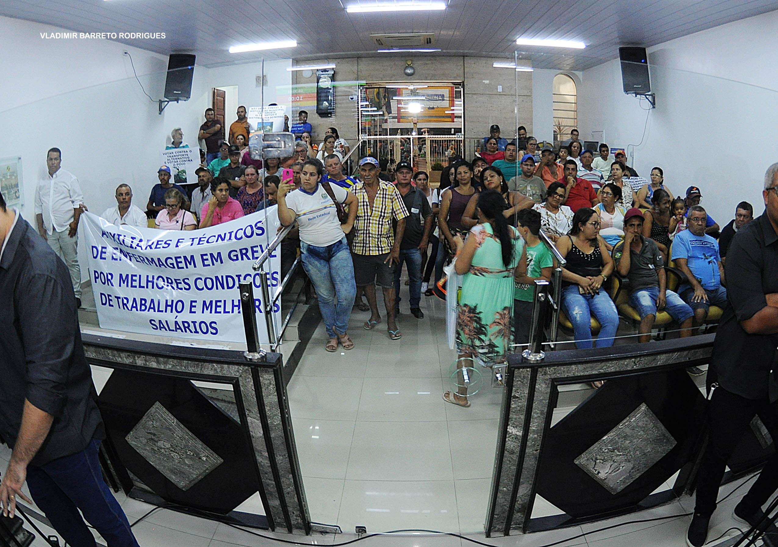 Plenário lotado por loteiros e profissionais da saúde marca a 5ª Sessão Ordinária