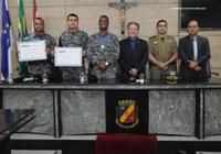 Policiais do Batalhão Integrado Especializado são homenageados na Câmara