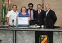 Professora Allene Lage é homenageada na Câmara com título de cidadania