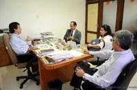 Reitor da Unaveb visita presidente da Câmara Municipal