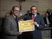 Valdir Santos é homenageado por Marcelo Gomes na Câmara de Caruaru