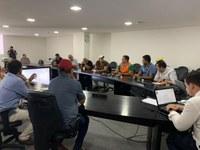 Vereadores participam de reunião para tratar sobre o coronavirus
